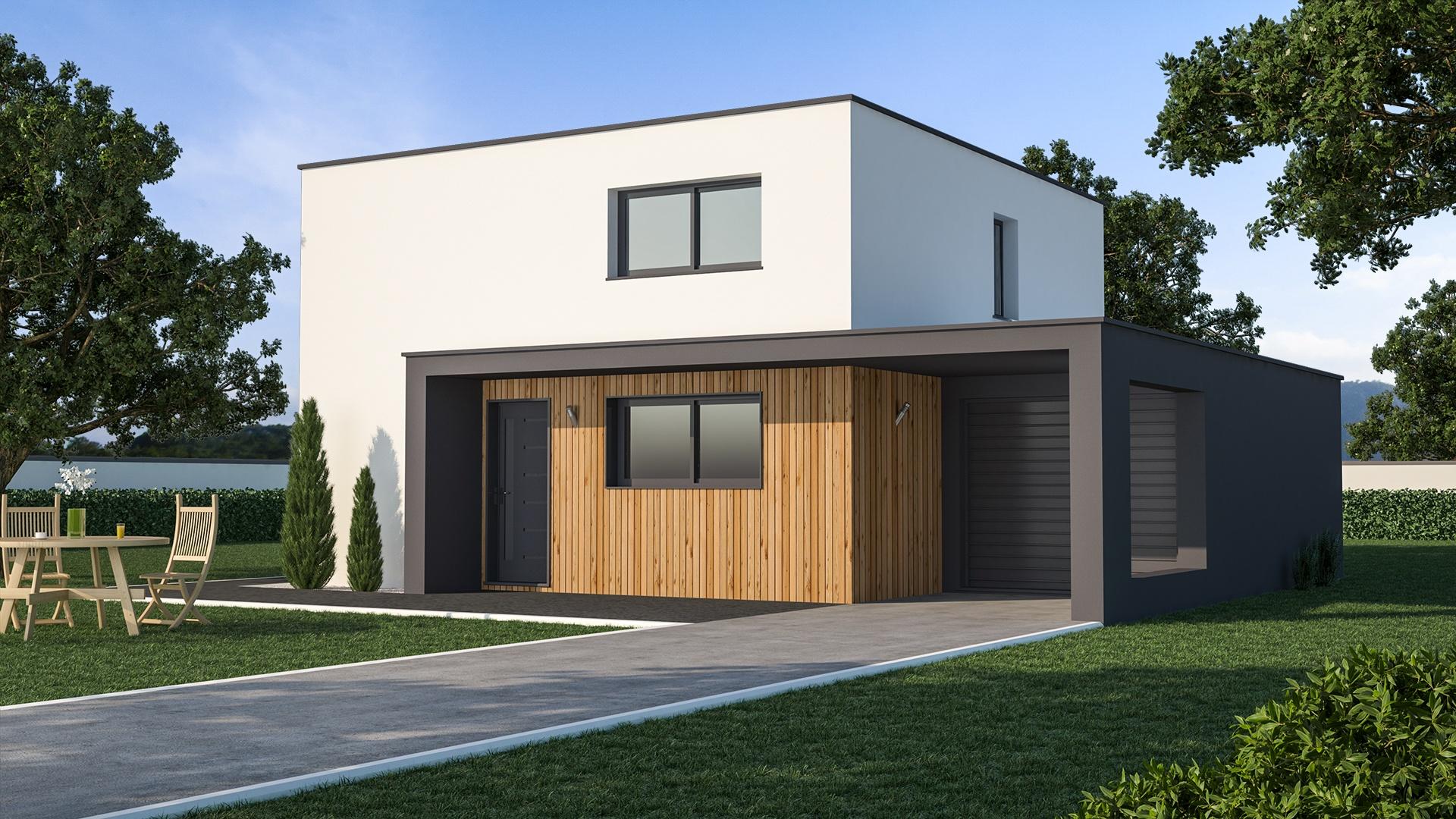 Maison contemporaine bardage bois| Maison de style Contemporain - Maisons de l'Avenir