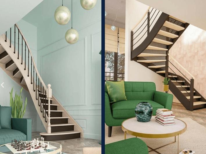 escalier maison neuve
