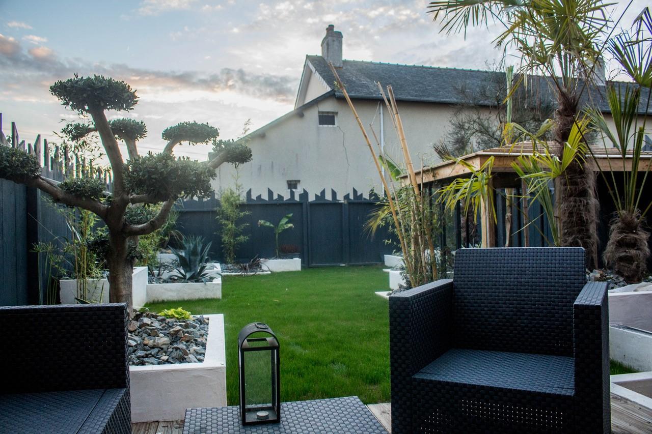 jardin amenagé maison avenir constructeur